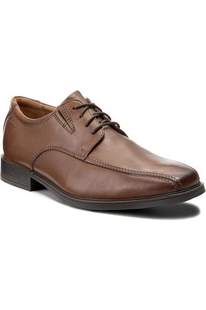 Clarks Herren Elegante Schuhe - Tilden Walk 261300957 Dark Tan Leather