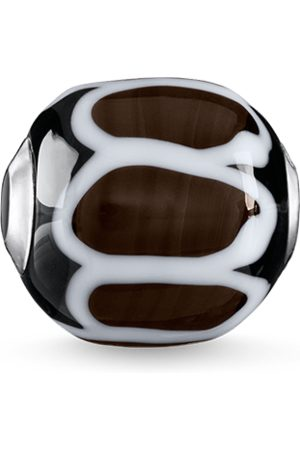 Thomas Sabo Anhänger - Bead Glas-Bead Schwarz, Weiß