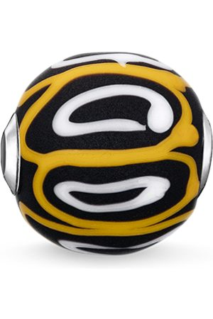 Thomas Sabo Bead Glas-Bead Gelb, Weiß, Schwarz