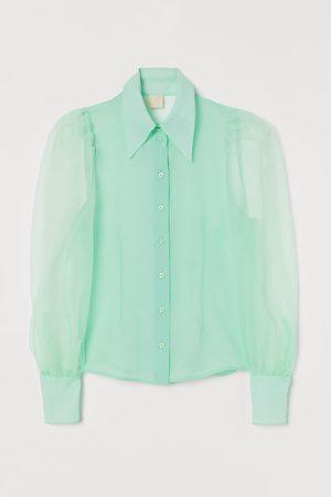H&M Bluse mit Puffärmeln