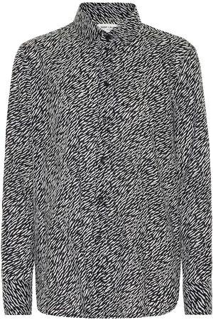 Saint Laurent Bedruckte Bluse aus Baumwolle