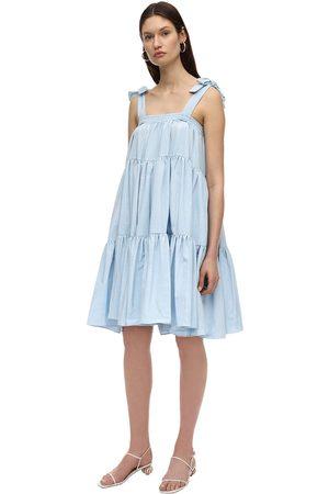 BATSHEVA Damen Midikleider - Amy Ruffled Moiré Midi Dress