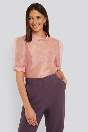 Trendyol Damen Blusen - Hochgeschnittene Bluse - Pink