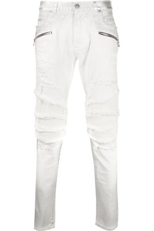 Balmain Bikerjeans in Distressed-Optik