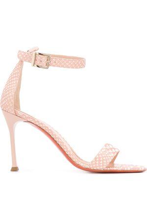 Baldinini Damen Sandalen - Sandalen mit Schlangen-Effekt, 100mm