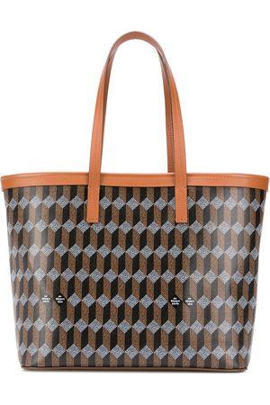 AU DEPART Damen Handtaschen - Shopper mit geometrischem Print