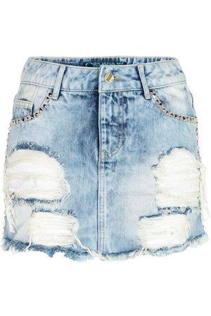 Cipo & Baxx Sommerrock mit Taschennieten