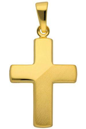 Adelia's 333 Gelbgold Kreuz Anhänger, , onesize
