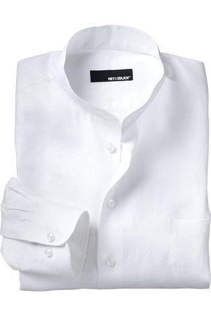 Mey & Edlich Herren Hemd Zephir-Leinenhemd Stehkragen