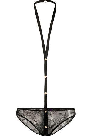 MAISON CLOSE Spitzen-Unterwäsche mit Harness