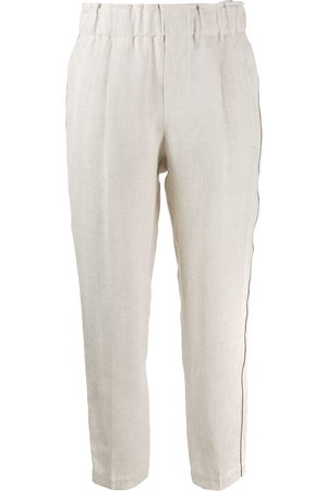 Brunello Cucinelli Cropped-Hose mit Messingdetails