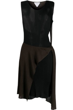Bottega Veneta Zweifarbiges Strickkleid