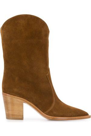 Gianvito Rossi Damen Stiefeletten - Cowboystiefel mit Holzabsatz