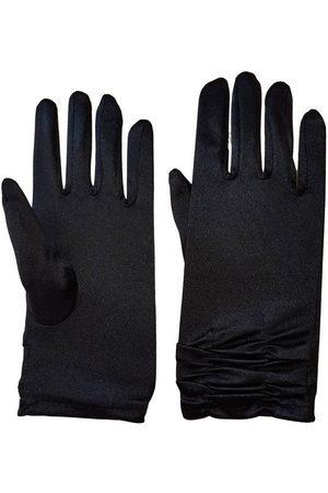 familytrends Damen Handschuhe - Abendhandschuhe »Satin Damen Handschuhe kurz mit Raffung dehnbar« im Satin-Look