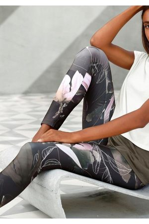 Lascana Leggings »Tropical« mit abstraktem Blumenprint
