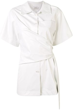 GOEN.J Damen Blusen - Hemd mit Knoten