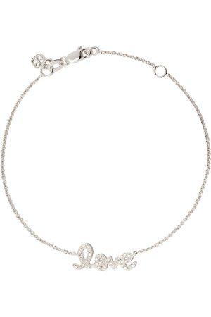 Sydney Evan 18kt 'Love' Weißgoldarmband mit Diamanten