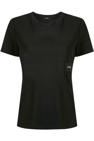 GOEN.J Damen T-Shirts, Polos & Longsleeves - T-Shirt mit Logo-Patch