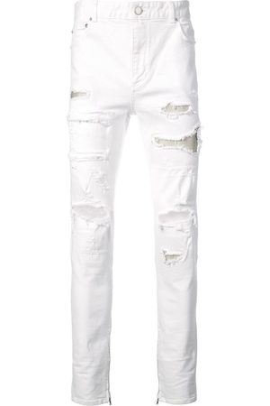God's Masterful Children Schmale Jeans mit Distressed-Optik