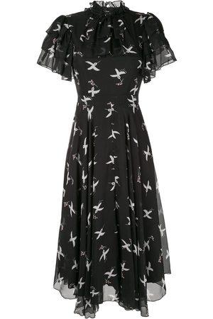 Macgraw Damen Freizeitkleider - Kleid mit Vogel-Print