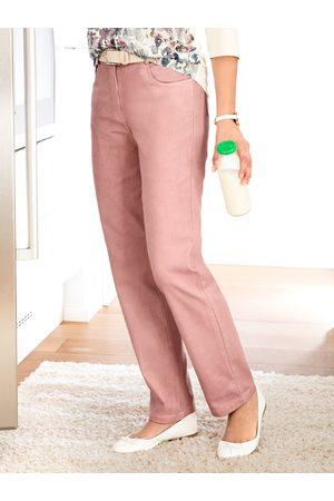 Avena Noch offen: Marke Damen Powerstretch-Hose feminin Rosé