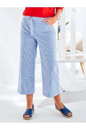 Avena Damen 3/4-Komfortbundhose-Extraglatt Hellblau