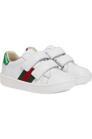 Gucci Sneakers aus Leder mit Webstreifen