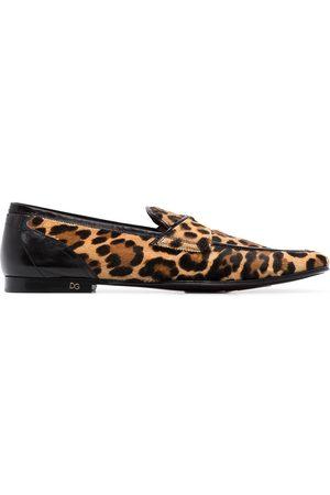 Dolce & Gabbana Erice' Loafer mit Leo-Print