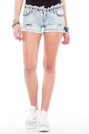 Cipo & Baxx Shorts in modischer Used-Optik
