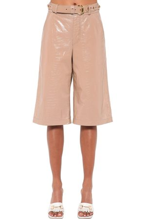 DODO BAR OR Deniz Croc Printed Leather Bermuda Short