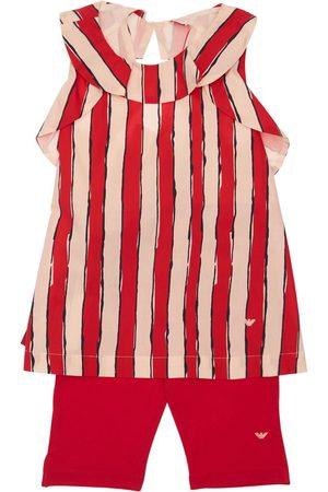 Emporio Armani T-shirt Und Leggings Aus Baumwollpopeline