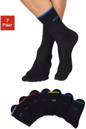 H.I.S Socken (7-Paar) mit farbigen Bündchen