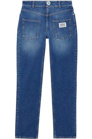 Burberry Gerade Jeans mit Logo