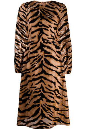 Dolce & Gabbana Kleid mit Tiger-Print