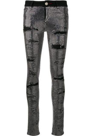 Philipp Plein Skinny-Jeans mit Kristallen