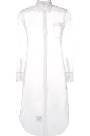Thom Browne Midi-Hemdkleid mit Sheer-Effekt