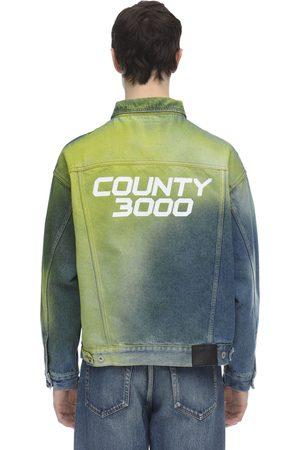 MARCELO BURLON County 3000 Spray Over Denim Jacket