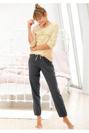 VIVANCE DREAMS Pyjama im Streifenmuster mit 3/4-Ärmeln