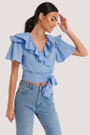 Trendyol Damen Blusen - Rüschenbluse - Blue