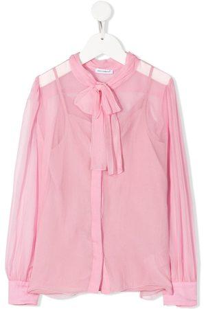Dolce & Gabbana Kids Mädchen Blusen - Bluse mit Schleifenkragen