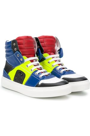 Philipp Plein High-Top-Sneakers mit Einsätzen