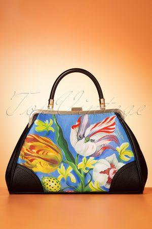 TopVintage Damen Handtaschen - 50s Ladybug Handbag in Blue