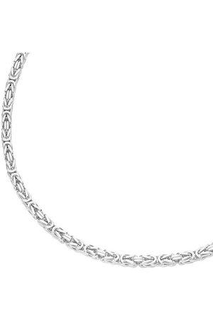 Firetti Silberkette »Königskettengliederung, 4,1 mm, glänzend, diamantiert und rhodiniertem Design«