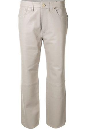 Goldsign Damen Leder & Lederimitathosen - Cropped-Hose aus Leder