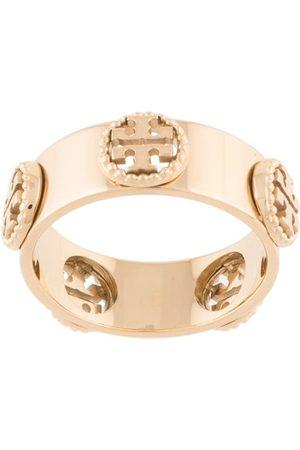 Tory Burch Damen Ringe - Milgrain' Ring mit Logo-Schild