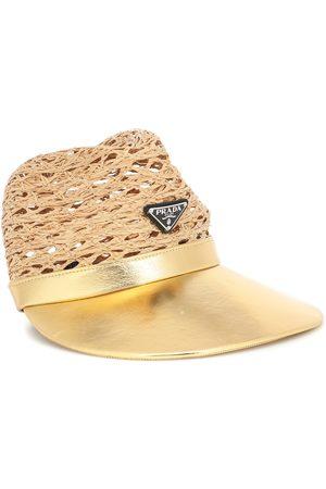 Prada Hut aus Raffiabast und Leder