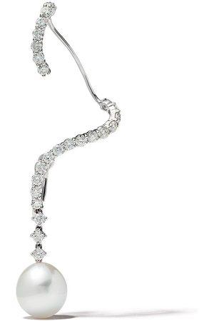 Yoko London 18kt 'Novus' Ear Cuff aus Weißgold mit Diamanten und Südseeperle
