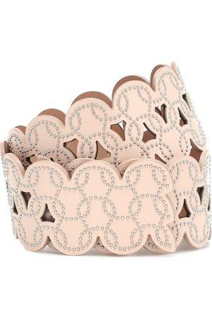Alaïa Verzierter Gürtel aus Leder