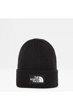 The North Face Damen Hüte - Tnf Logo Box Mütze Mit Umschlag Tnf Black Größe Einheitsgröße Standard Damen