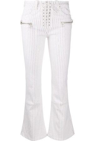 Unravel Project Damen Hosen & Jeans - Gestreifte Schlaghose
